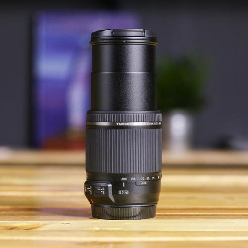 lente tamron 18 200 canon estabilizado automático