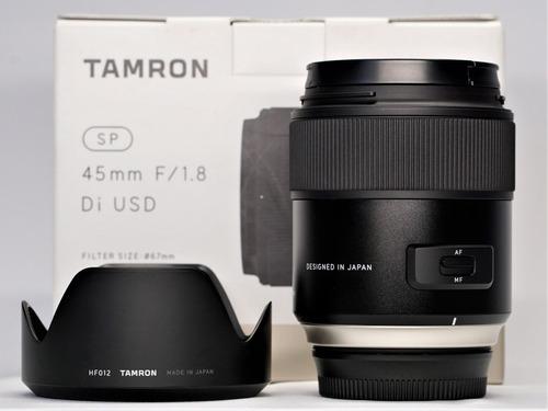 lente tamron sp 45mm f1.8 di usd sony