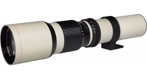 lente telefoto 500mm/1000mm f/8 para sony a-mount blanco