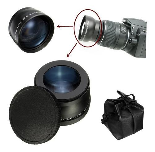 lente telephoto digital 2x câmeras sony canon nikon de 62mm