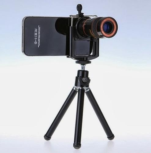 lente telescopico para celular con tripode
