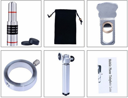 lente telescopio 18x zoom óptico universal para smartphone.