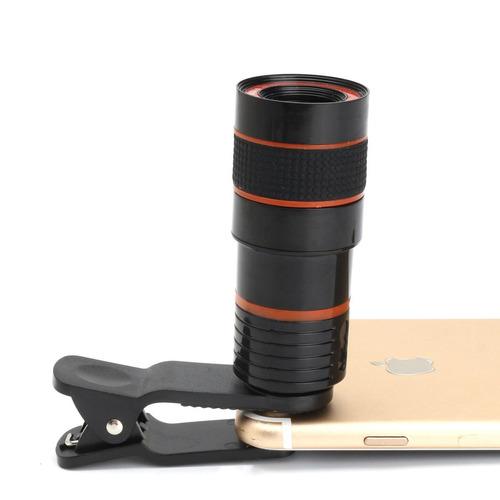lente telescopio 8x universal para celular camara celulares