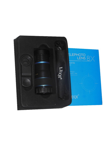 lente telescopio original lieqi® zoom óptico 8x celu tablet