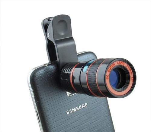lente telescopio zoom óptico 8x para celulares y tablets