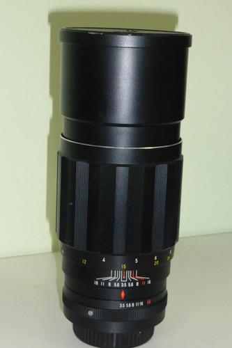 lente tokina 200mm f3.5 em ótimo estado c/adaptador sony nex