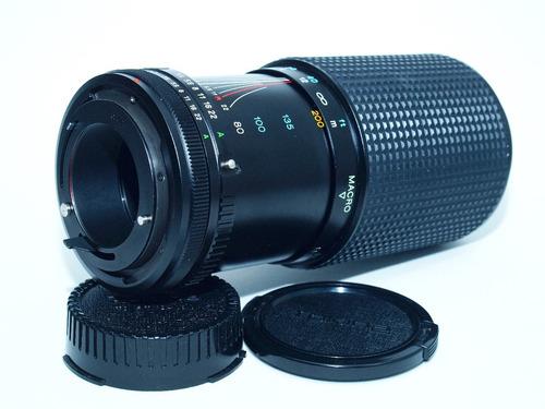 lente tokina 80 - 200 montura para canon fd