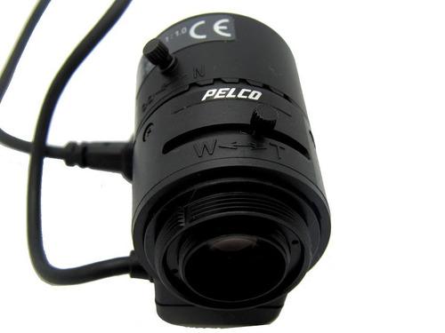 lente varifocal pelco 13vd3-8 1/3pol auto iris abertura 1.0