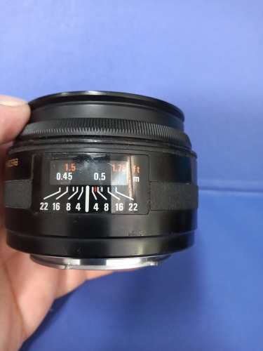 lente yashica 50mm 1.8 ler anúncio