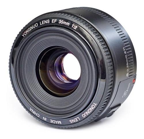 lente yongnuo 35mm f/2.0 mf af canon objetivo gran angular !