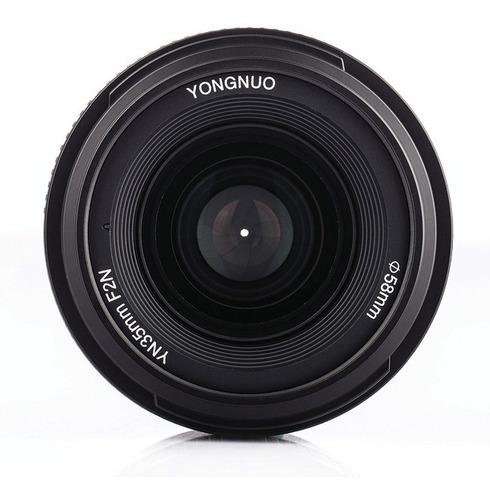 lente yongnuo 35mm f/2.0 mf af objetivo angular nikon nikkor