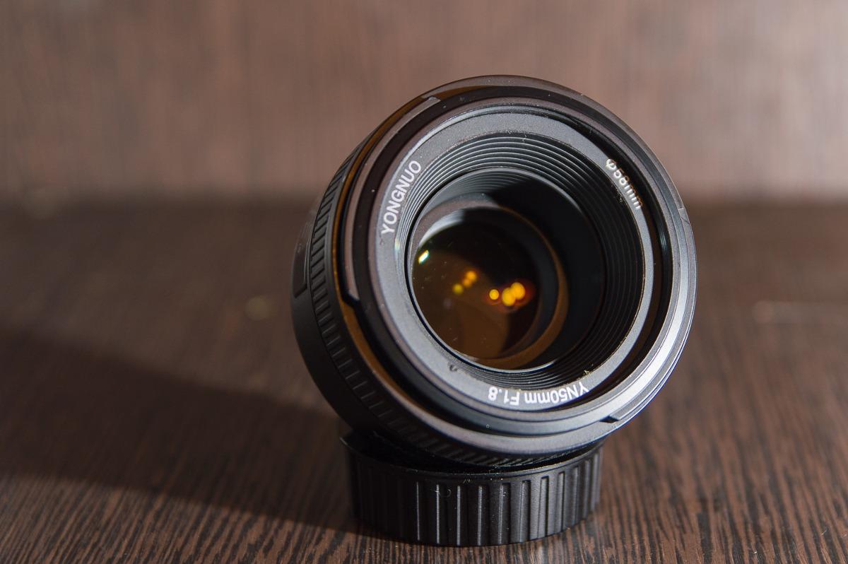 Lente Yongnuo 50mm 1.8 Nikon Motor De Enfoque + Accesorios ...