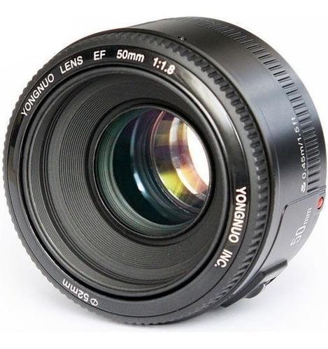lente yongnuo 50mm f1.8 para canon + paño | parasol | bolso.