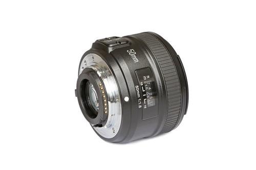lente yongnuo 50mm f/1.8 para nikon af mf