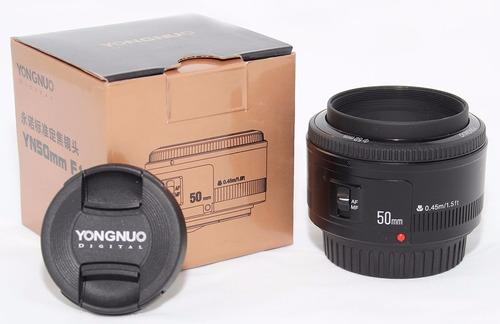 lente yongnuo 50mm para canon