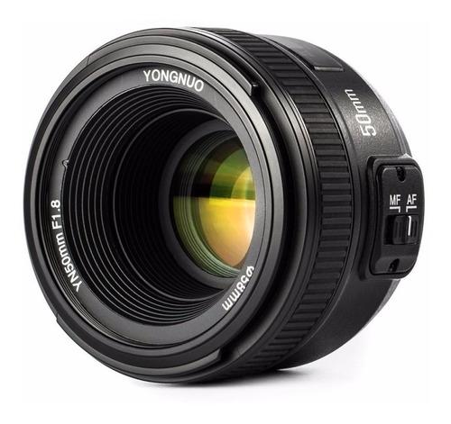 lente yongnuo nikon 50mm 1.8 af mf d5100 d5200 gtia fct a b