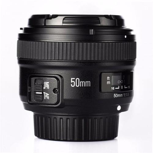 lente yongnuo nikon 50mm 1.8 af mf d5100 d5200 local gtia