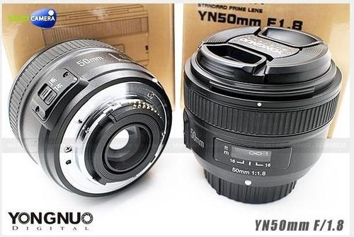 lente yongnuo yn 50 mm f1.8 enfoque automatico para niko