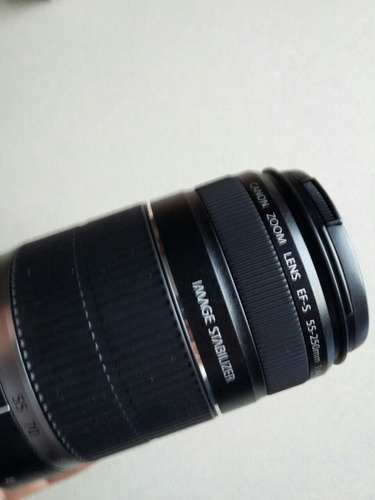 lente zoom canon 55-250mm stm is f4-5.6 estabilizado