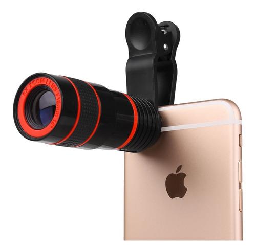 lente zoom óptico 8x se acopla a toda marca de celular