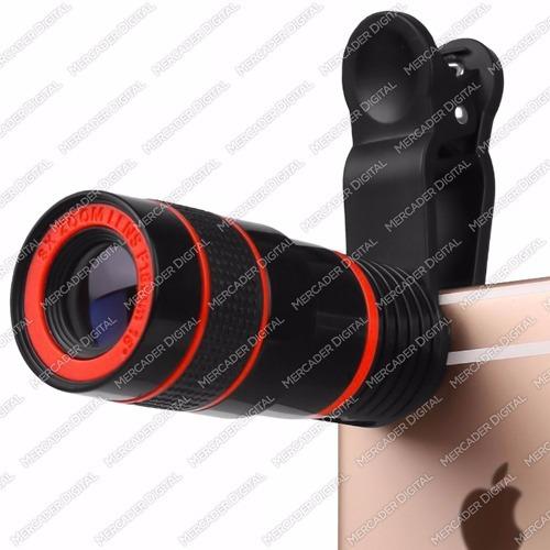 lente zoom óptico 8x telescopio de clip universal + envío
