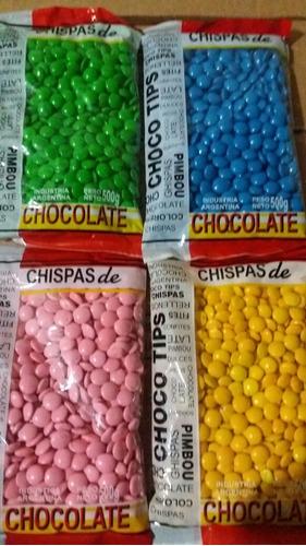 lentejas de chocolate por color
