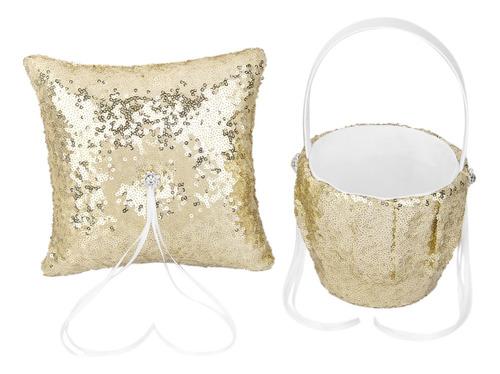 lentejuelas de oro de moda conjunto de ceremonia de boda de