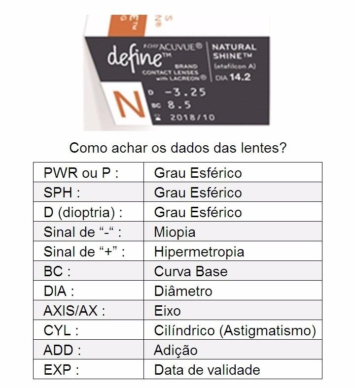 Lentes 1-day Acuvue Define Natural Shine Forte Frete Grátis - R  152 ... 50a6f19250