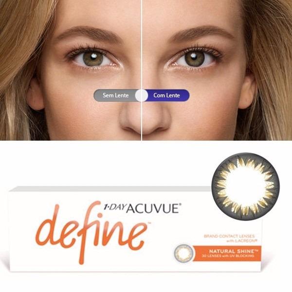 a03782cad69f5 Lentes 1-day Acuvue Define Natural Shine Forte Frete Grátis - R  152 ...