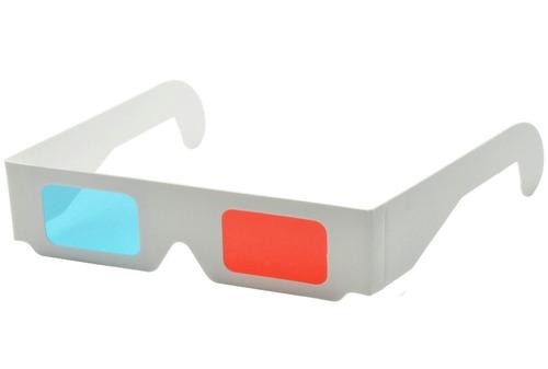 lentes 3d anaglificos de carton, cine tv, juegos, revistas