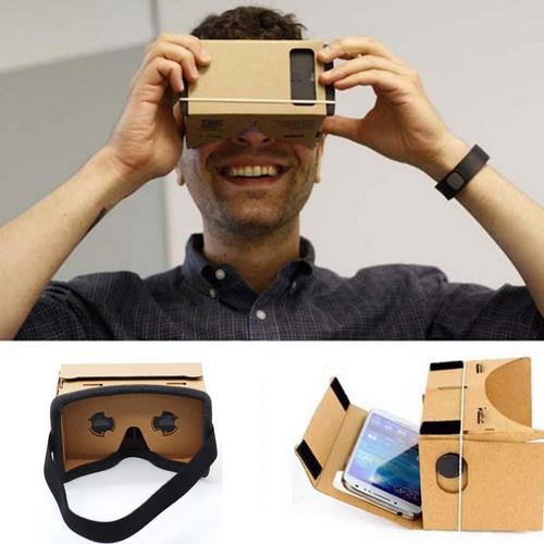 lentes 3d de realidad virtual v1, google cardboard