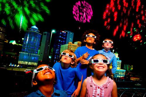 lentes 3d para fuegos artificiales