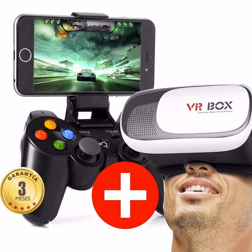 lentes 3d vr box virtual + control joystick bluetooth