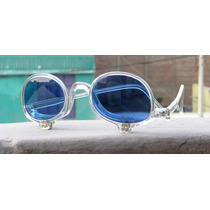 Lentes Ovalados Make Up Crystal, Lennon, Azules, Transparent
