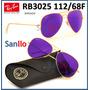 Lentes De Sol Rb3025 112/68f 58 Purple Morado Espejo Origen