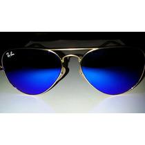 Lentes Ray Ban 3025 Aviator 112/17 Espejado Azul Original