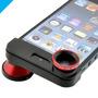 Lente 3 - En - 1 Iphone 5 Ojo De Pez + Gran Angular + Macro