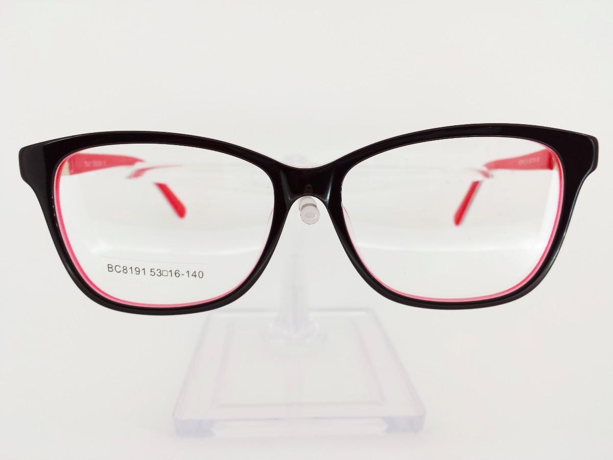 0d93f598d3 lentes anteojos armazones dama receta acetato flex rojo 8191. Cargando zoom.