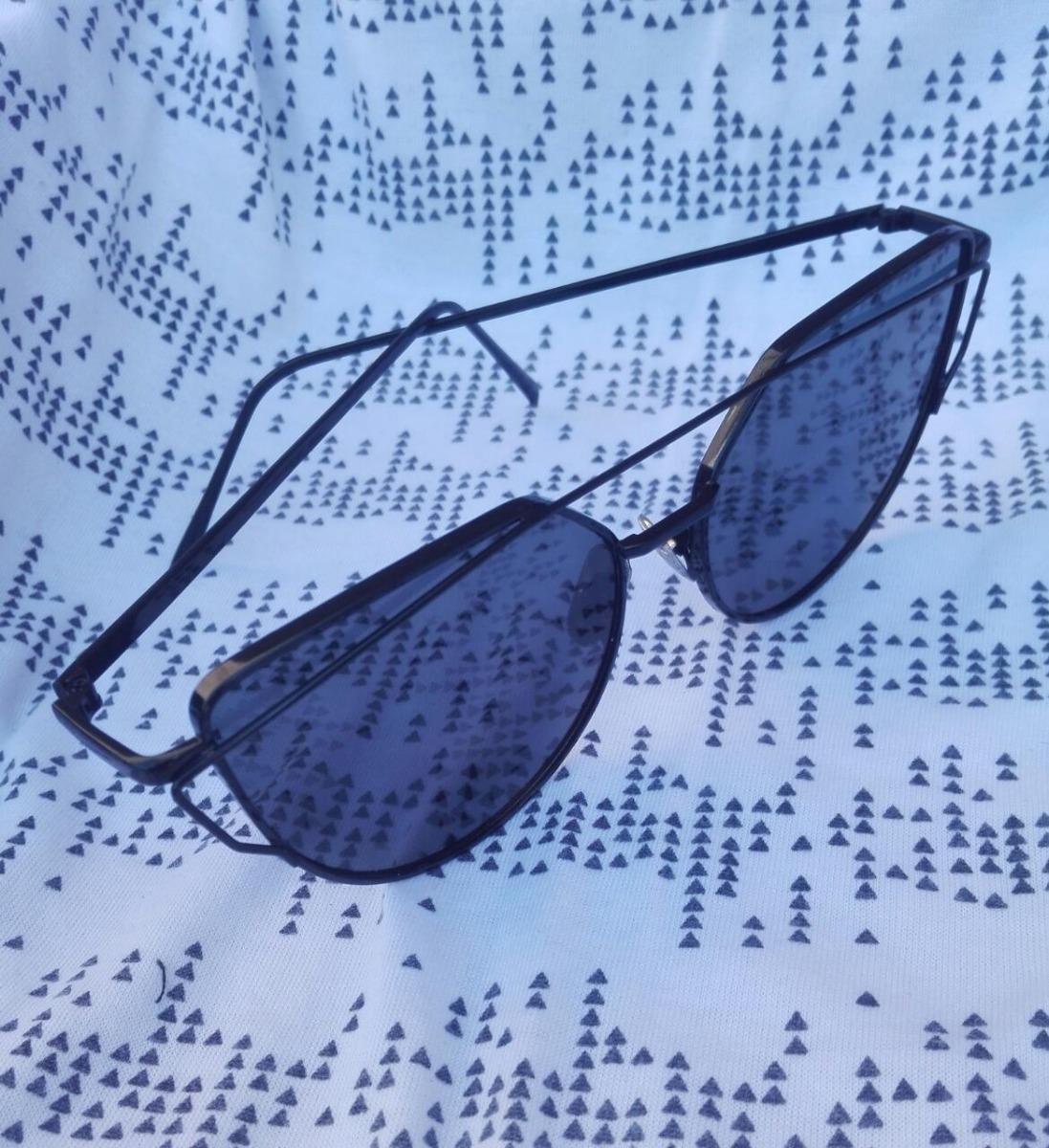 93b8a3e713 Lentes Anteojos Gafas Sol Cat Eye Negro Metal Unisex - $ 500,00 en ...