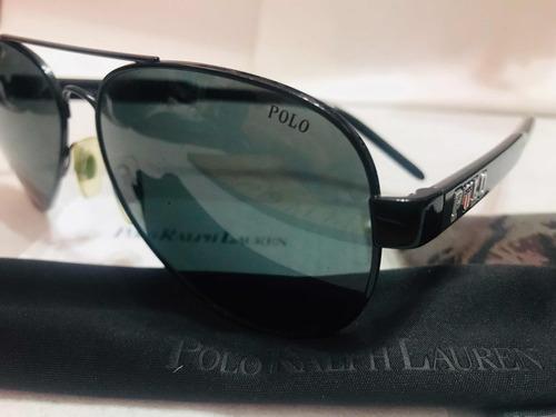 b4f6e33189 Lentes Anteojos Sol Uv Polo Ralph Lauren Aviator Negro - $ 7.850,00 ...