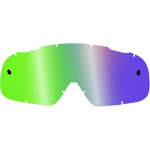 lentes antiem. rep. fox racing airspc, lexan, base gris/verd