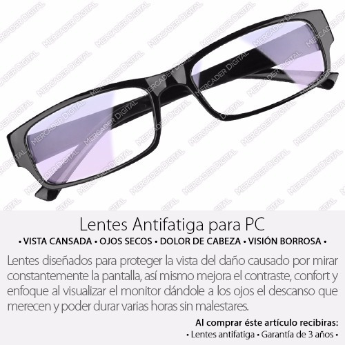 lentes antifatiga para computadora antireflejantes pc gamers