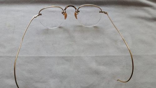 lentes antiguos enchapado en oro 12k