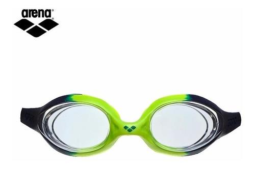 lentes arena spider junior navy- clear