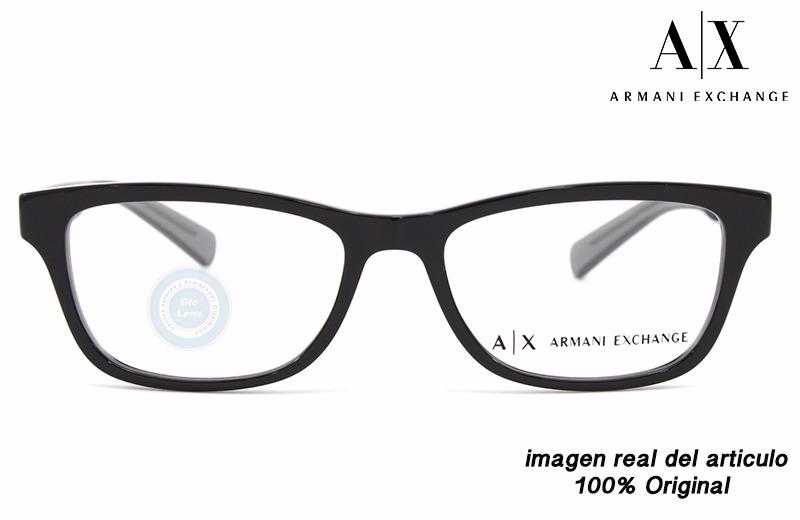 a54ec6ad5f lentes armani exchange 3030 8186 black oftalmico original. Cargando zoom.