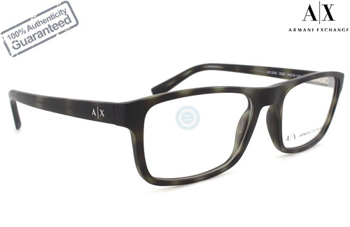 lentes armani exchange oftalmico 3046 8229 matte grey havana