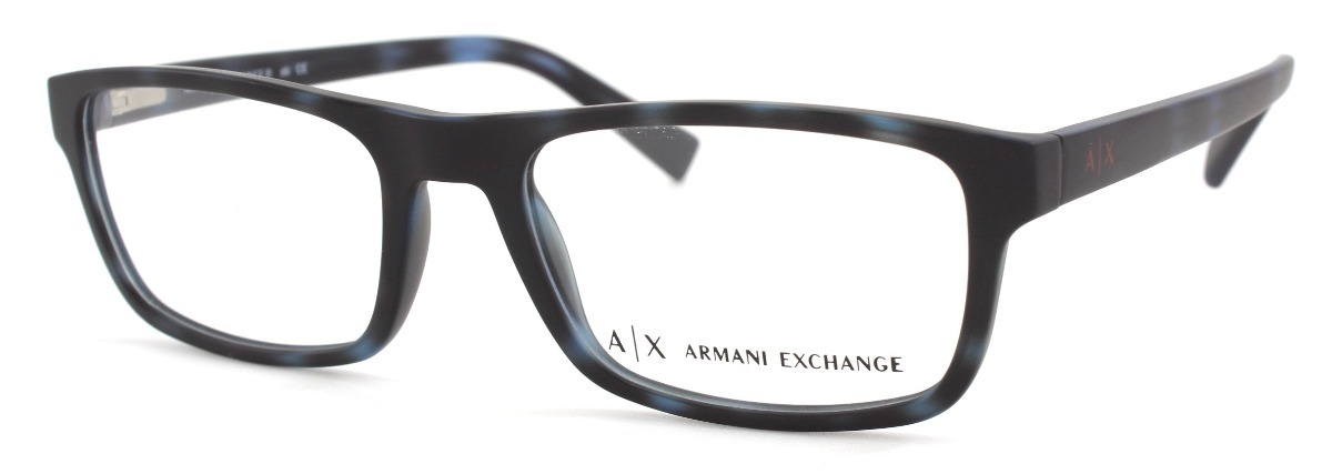 0eae5573da89 Lentes Armani Exchange Oftalmico 3046 8230 Matte Blue Havana .