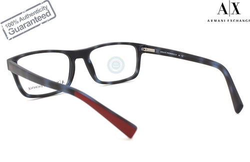 lentes armani exchange oftalmico 3046 8230 matte blue havana