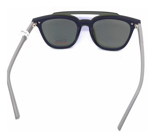 lentes armazón nivada  con clip solar desmontable - tornilo