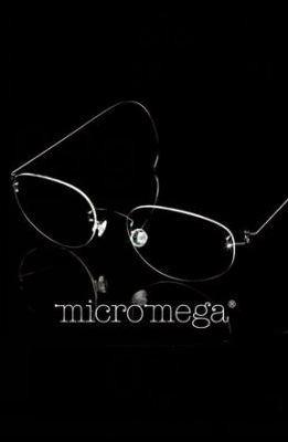 lentes armazón oftálmico micromega de titanio 100% original